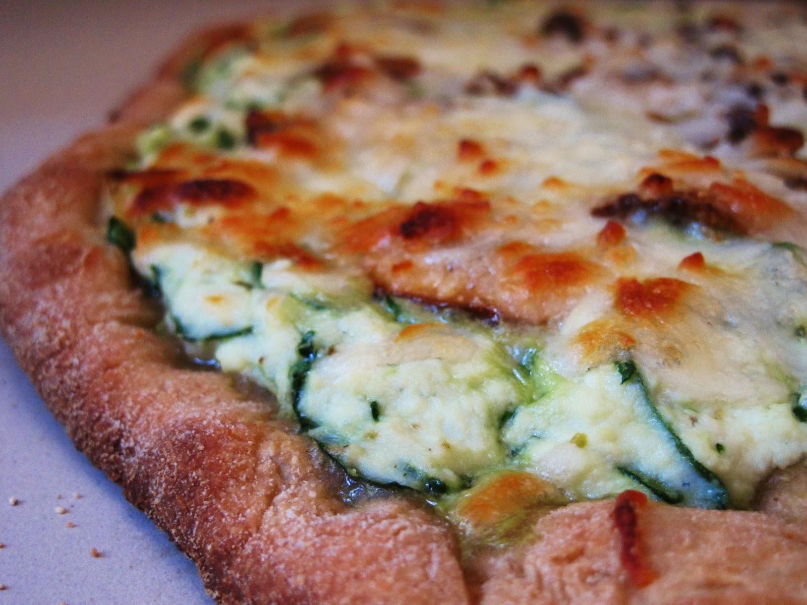 the small boston kitchen lighten up spinach and ricotta sauced whole wheat pizza - Boston Kitchen Pizza