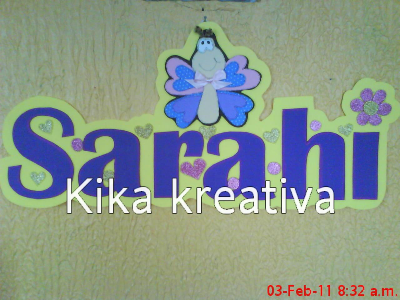 Kika Kreativa Manualidades: UN NOMBRE DECORADO