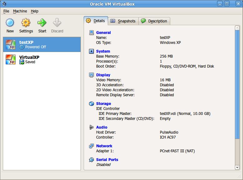 Konfigurasi awal VirtualBox selesai