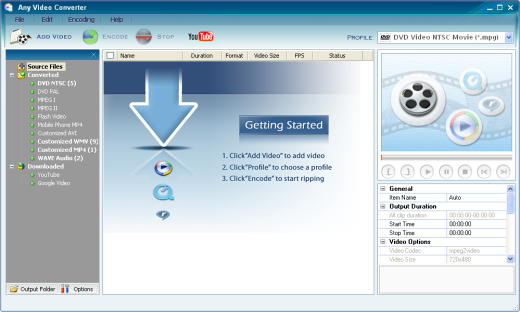 Tampilan grafis  Any Video Converter
