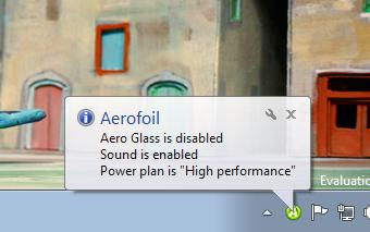 Aerofoil sedang melakukan aksinya