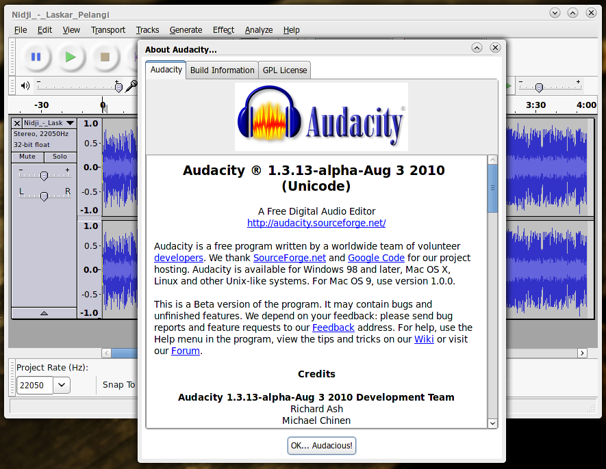 Audacity: Aplikasi pengedit audio kaya fitur