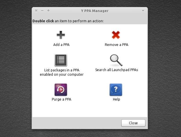 Tampilan grafis Y PPA Manager