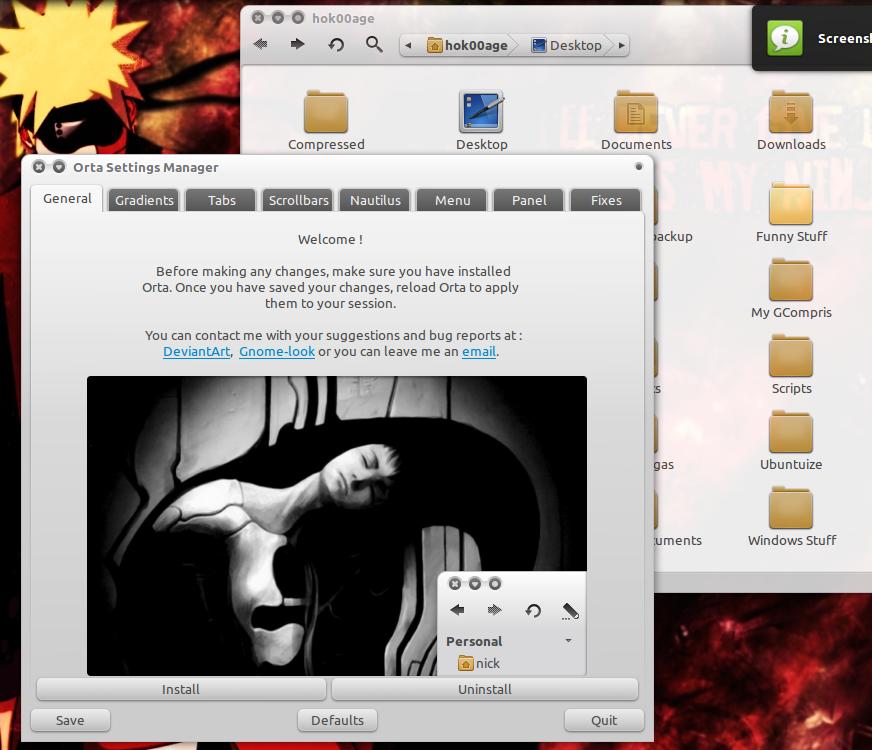 Tema Orta di Ubuntu 10.10 Maverick Meerkat