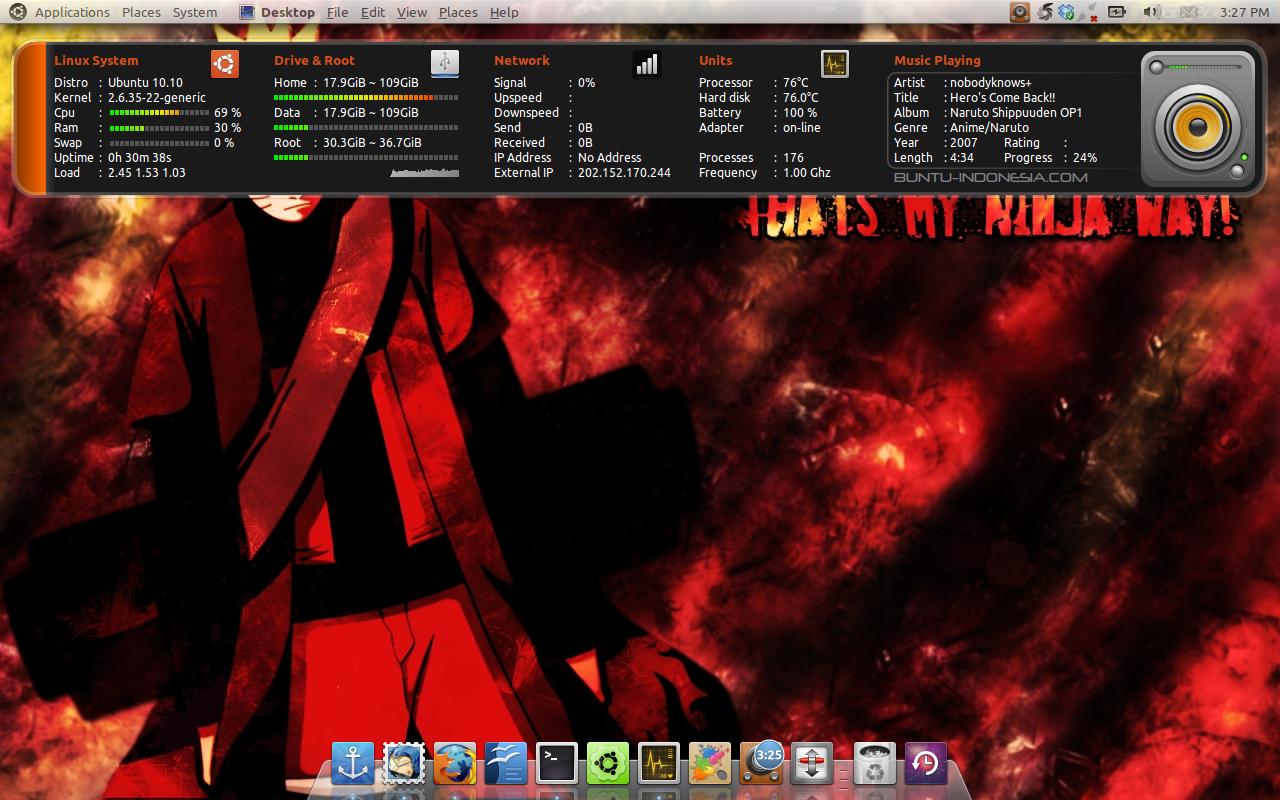 Percantik desktopmu dengan Conky