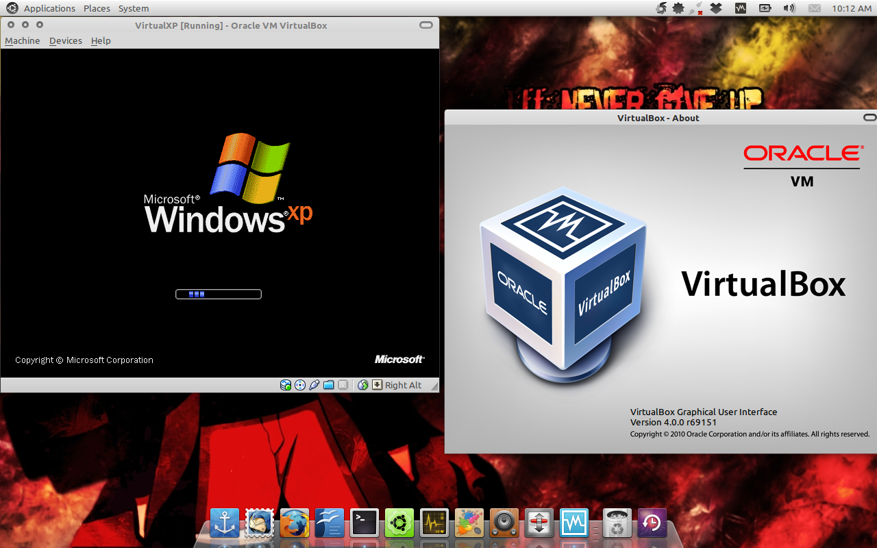 Windows XP berjalan di Ubuntu dengan VirtualBox