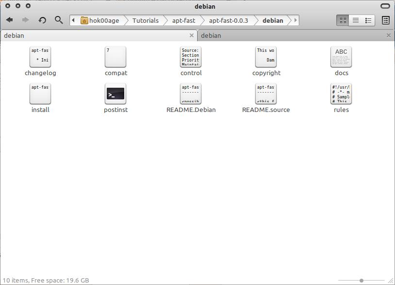 File-file yang ada pada folder debian