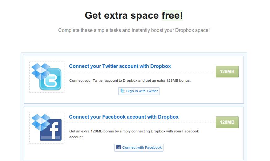 Dapatkan space tambahan sebesar 640 MB di Dropbox