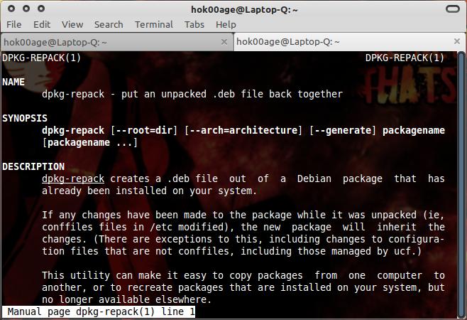 dpkg-repack: Backup semua aplikasi yang terinstal.