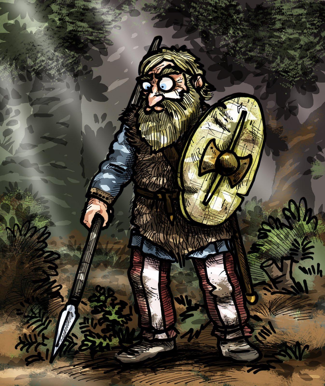 Iron Mitten Ancient German Warrior