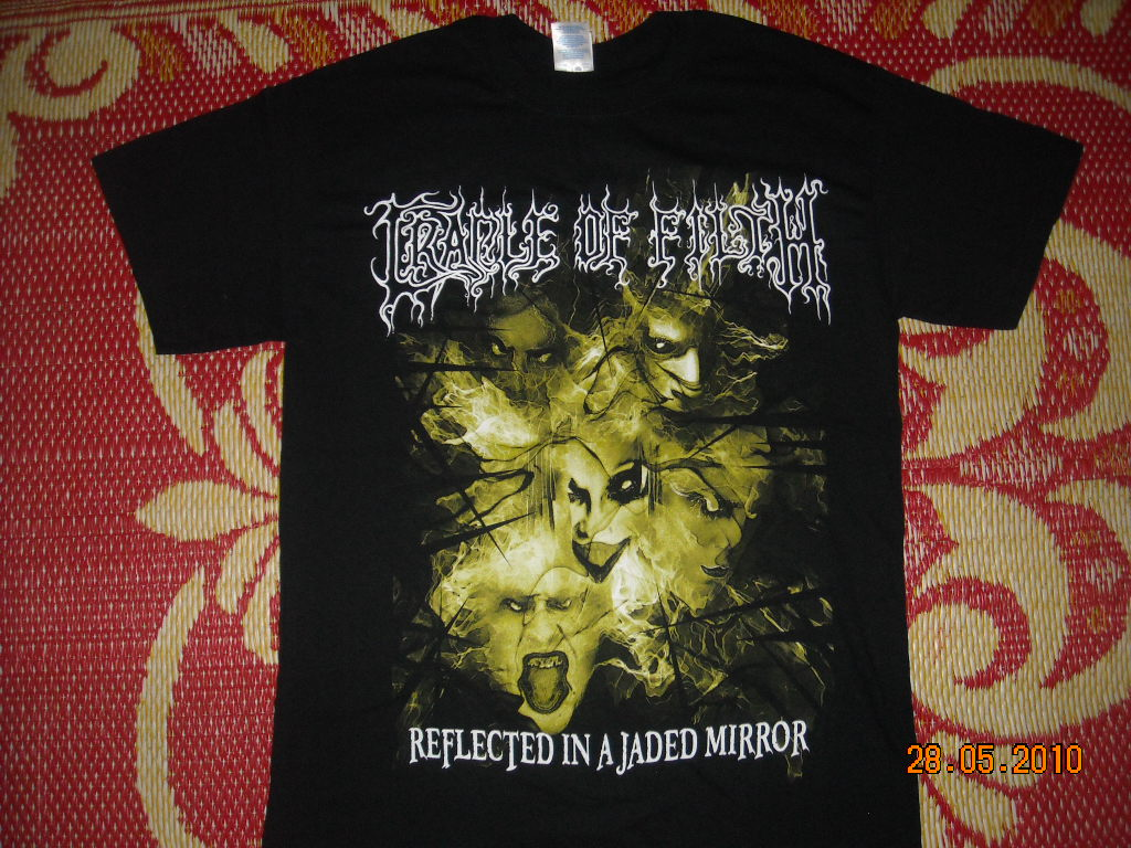 liar rocks cradle of filth band reflected in a jaded mirror t shirt. Black Bedroom Furniture Sets. Home Design Ideas