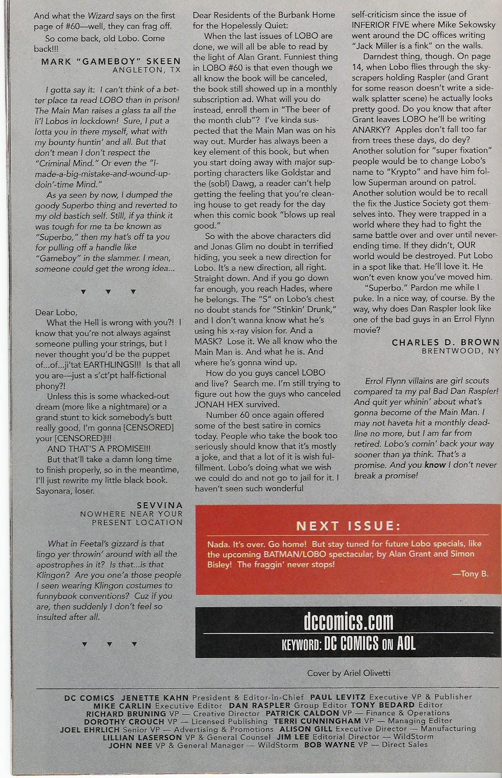 Lobo (1993) Issue #64 #69 - English 25