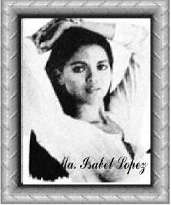 Ma. Isabel Lopez was proclaimed Bb. Pilipinas-Universe in 1982. Her