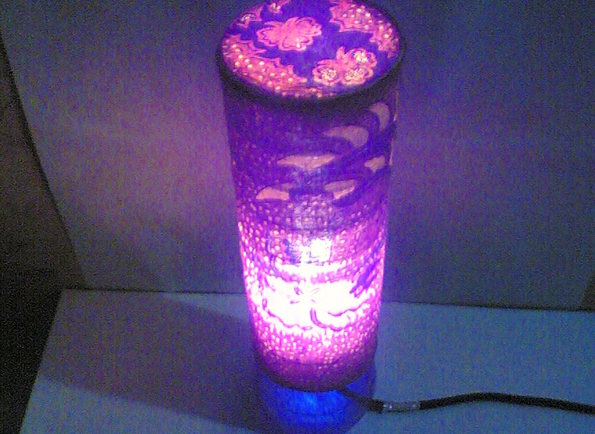 Kerajinan Tangan Cara Membuat Lampu Hias Dari Sendok Plastik Bekas ...