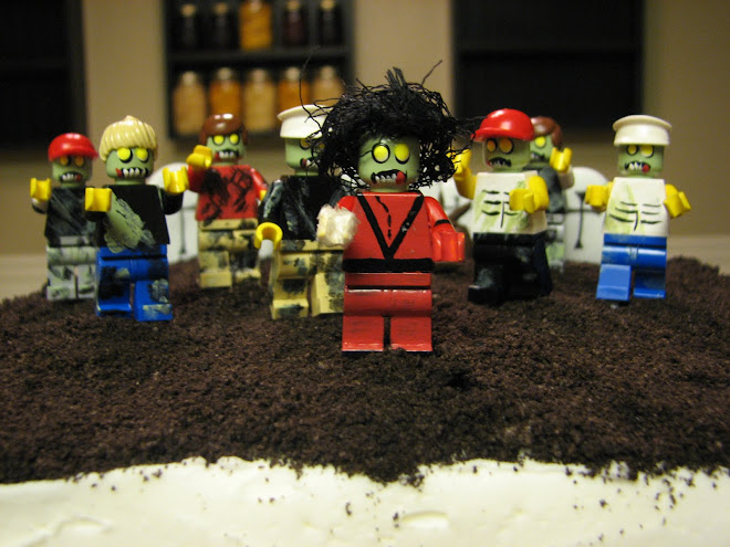 We made this Michael Jackson Thriller Zombie cake for Misty 39s son