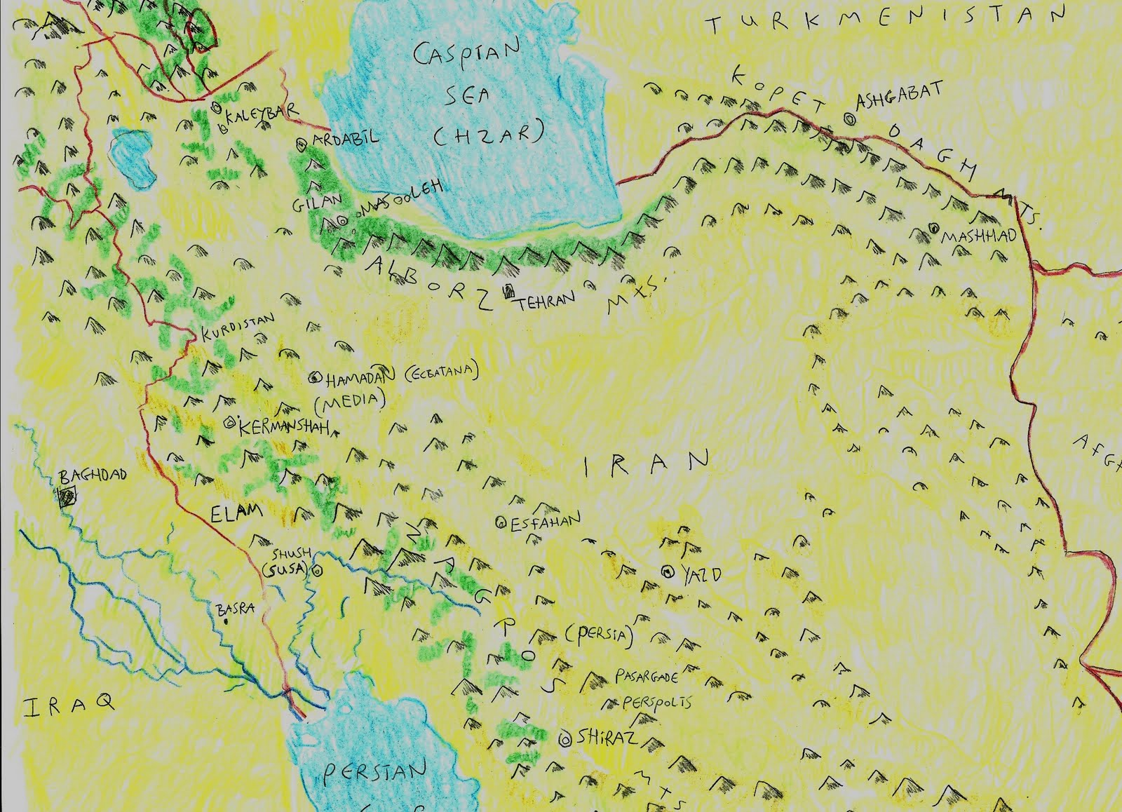 Why I Went to Asia Bus acros the Zagros from ancient Media to
