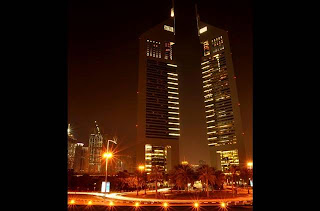 Emirates Towers in night