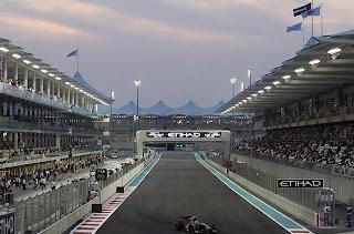 Fomula one racing in Abu Dhabi