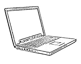 Notebook Computer Sketch