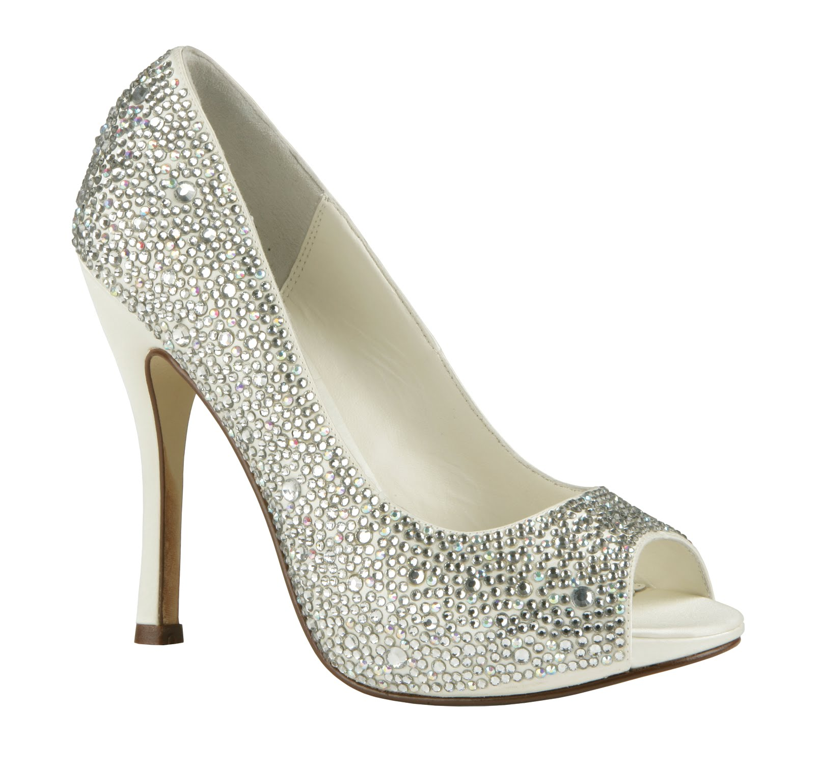 Everything but the dress all crystal bridal shoes by for Heels for wedding dress