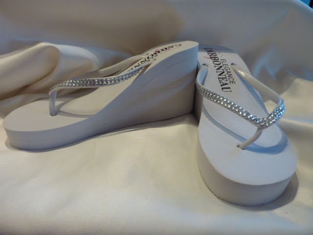 Everything But The Dress: Crystal Wedding Flip Flops