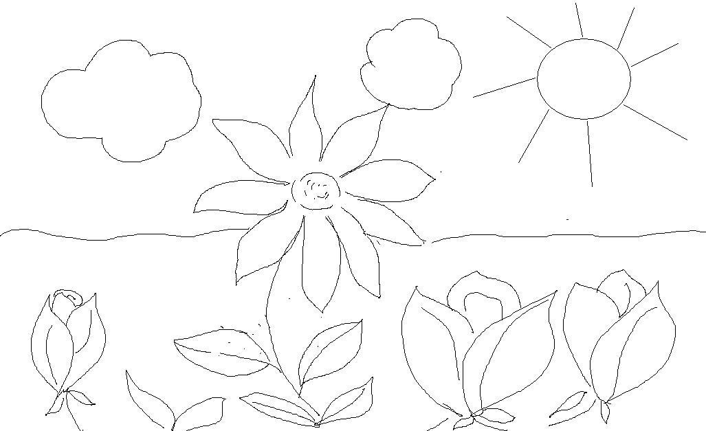 dibujos para coloresar gratis de flores y paisajes de regalo para ...