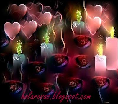 Estilos de Decoración V : Gótico, Tudor, Victoriano, Renacentista y San Valentín - Página 38 Dibujos+de+rosas+y+velas+romanticas23567