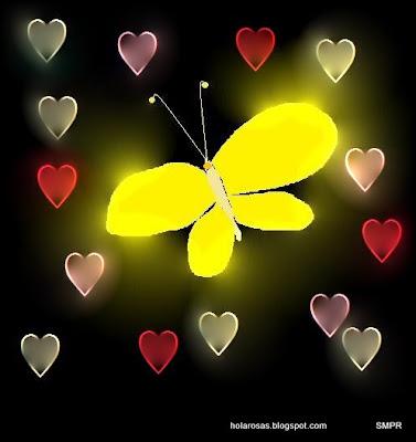 dia de los animales corazones y mariposas de amor y amistad.38