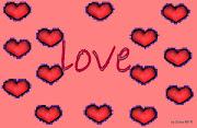 Imagenes de amor de corazones y rosas wallpapers corazones fondo salmon