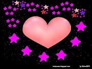 Imagenes de amor, dibujos de corazones y estrellas.Tarjetas Postales de amor (corazones rodeado de estrellitas de colores)