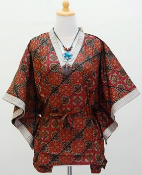 baju batik untuk acara santai dan semi formal baju kelelawar batik