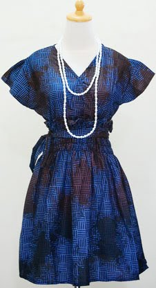 Dress batik lengan pendek DHIFAF-SOLD-
