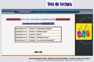 TEST DE LECTURA COMPRENSIVA