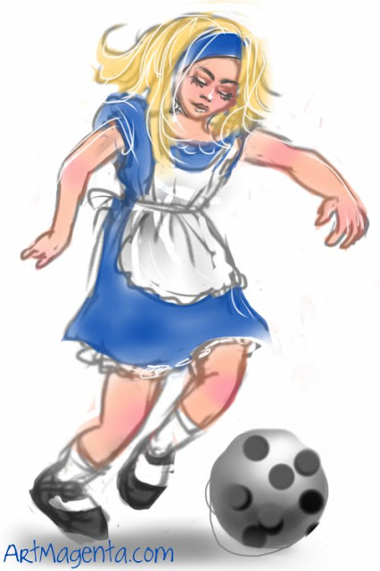 Football is a drawing by illustrator Artmagenta