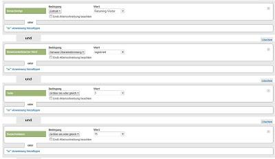 google analytics: erweiterte segmente