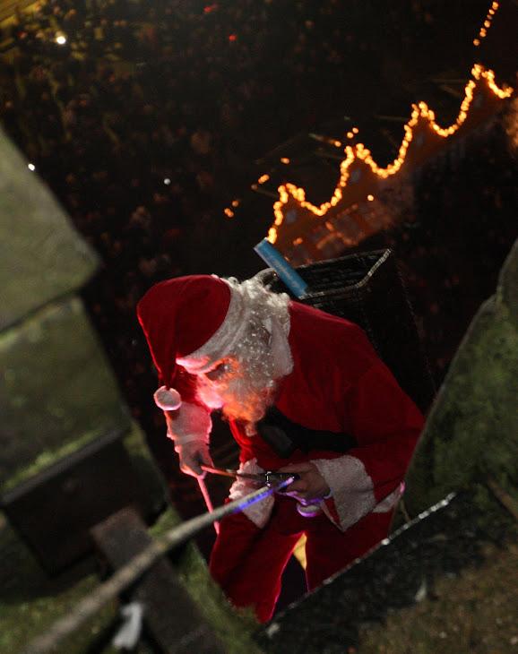 La descente du Père Noel !!