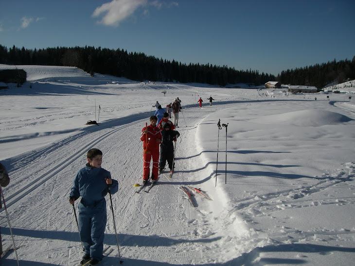 Stage Ski de fond ..de Froncine le haut à Chaux Neuve.terre de champion du monde! Jura Fevrier 2010
