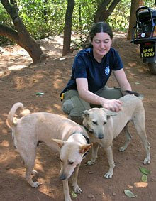 Maria and her four-legged friends