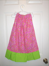 5T Pink and Lime Green Pillowcase dress
