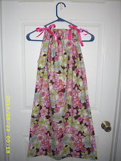 Size 9 Girls Flowered Pillowcase Dress
