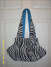 Zebra purse with blue lining