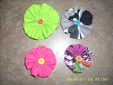 "Fabric Hair ""flowers"" on alligator clips"