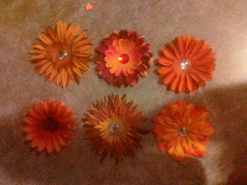 Fall Flower Clips