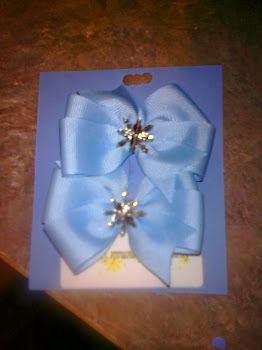 Snow Flake Christmas Bows