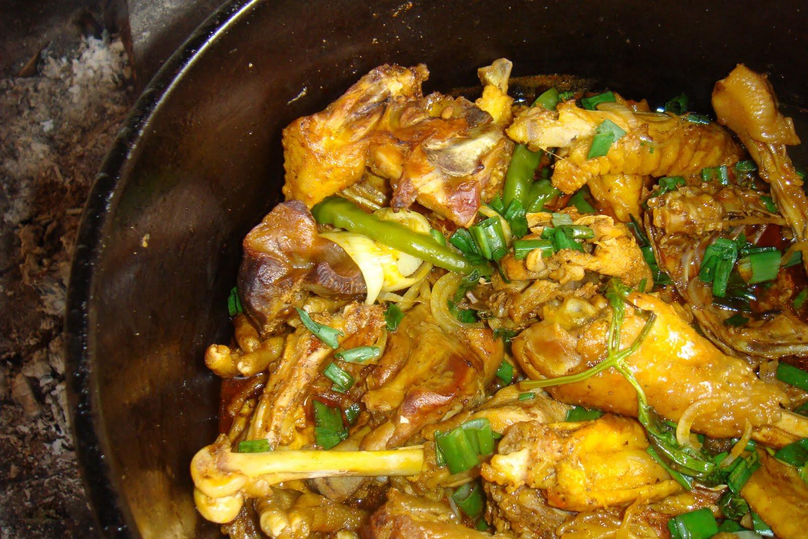 Orientações topo da frango de caril