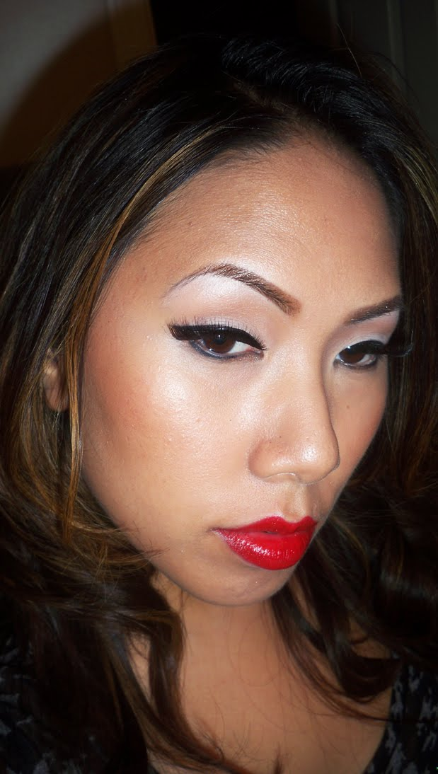 vintage pinup makeup. pin up makeup tutorial.