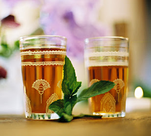 moroccan mint, mint tea, moroccan glass tea