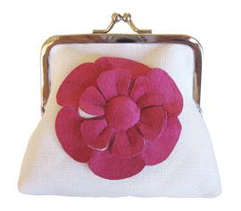floral clip purses, anna whitford