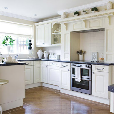 Classic Black and White Kitchen Units