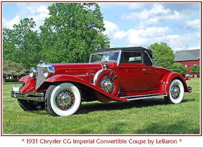 1931 Chrysler CG Imperial, Chrysler, classic sport car, car
